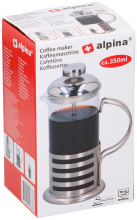 Konvička na kávu French press 350 ml, nerez
