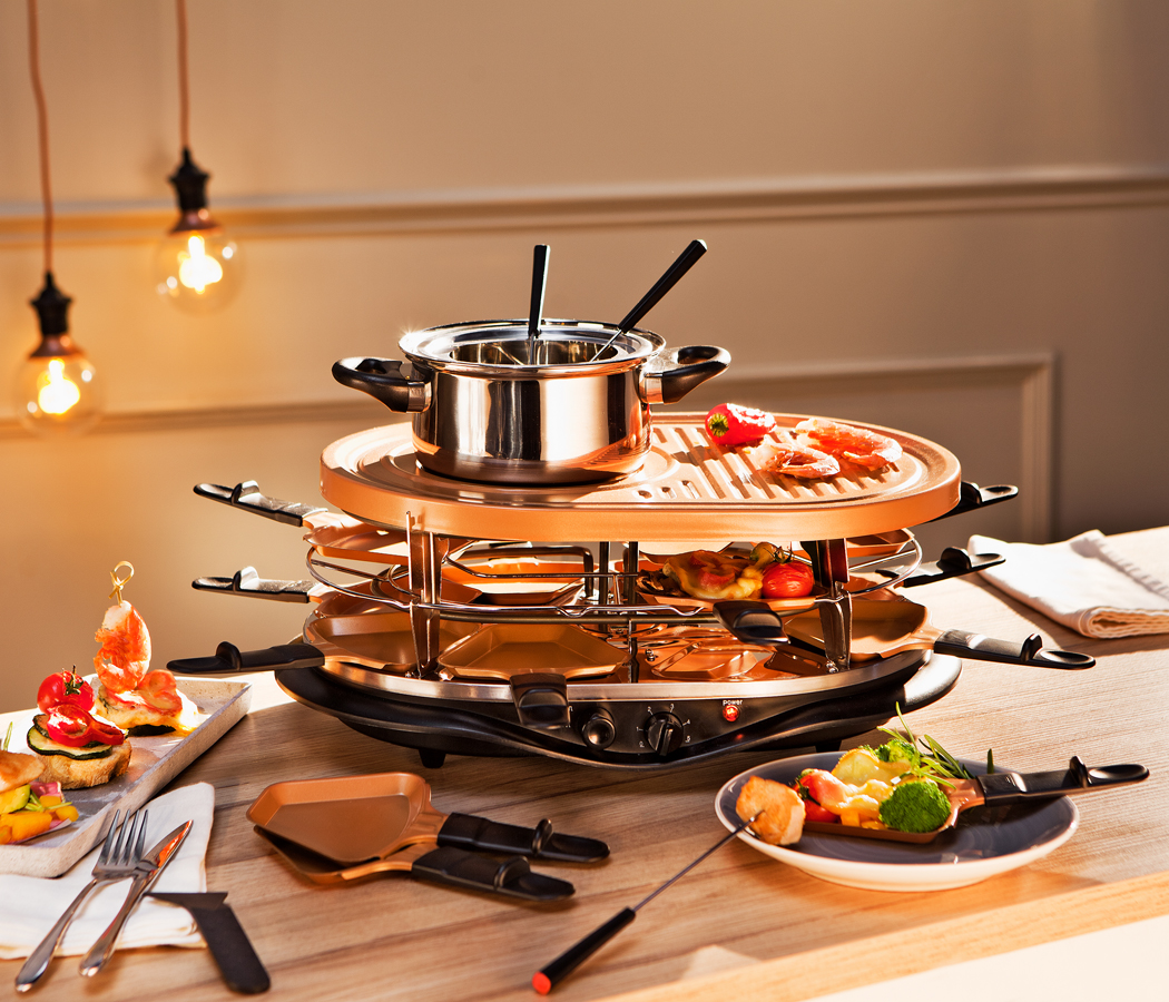 xxl raclette a fondue set 32 d l velk ko k. Black Bedroom Furniture Sets. Home Design Ideas