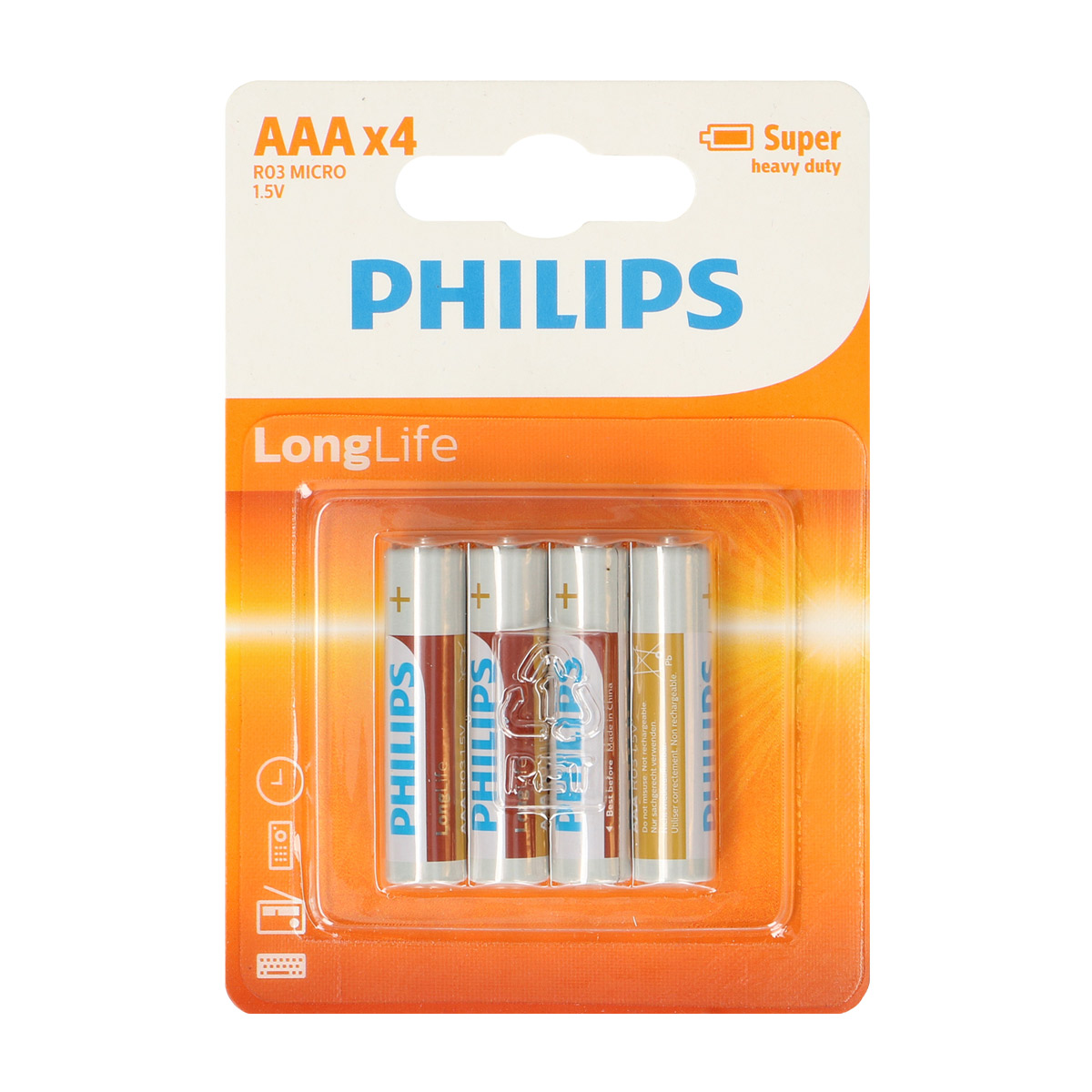 Baterie Philips AAA LongLife, 4 kusy